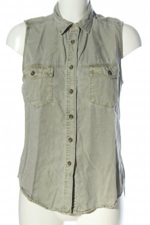 H&M Jeansbluse khaki Casual-Look