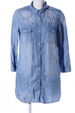 H&M Jeansbluse blau Business-Look
