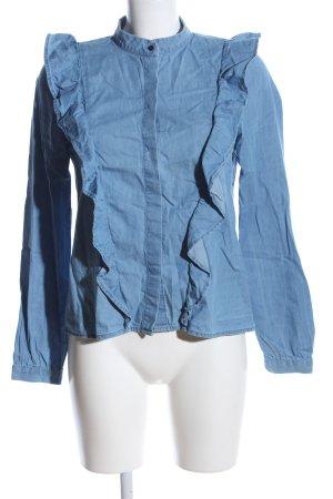 H&M Blusa denim blu Cotone