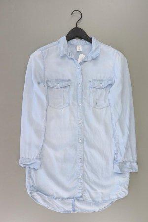 H&M Jeansbluse Größe 38 Langarm blau aus Lyocell