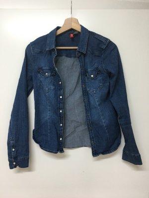H&M / Jeansbluse mit Druckknöpfen