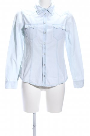 H&M Denim Shirt blue casual look