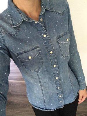 H&M Chemise en jean bleuet coton