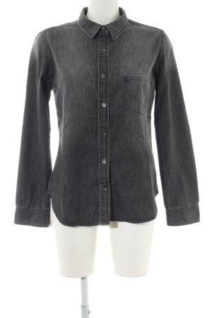 H&M Camisa vaquera negro look casual