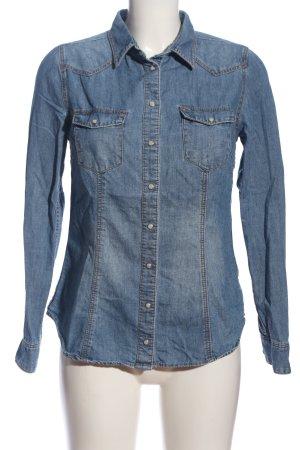 H&M Jeansowa koszula niebieski W stylu casual