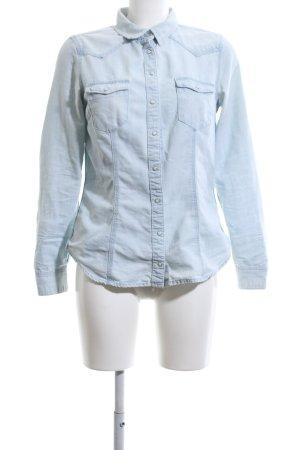 H&M Spijkershirt blauw Jeans-look