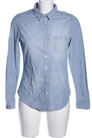H&M Jeanshemd blau meliert Casual-Look