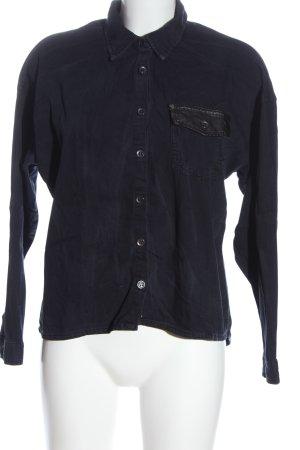 H&M Spijkershirt blauw zakelijke stijl