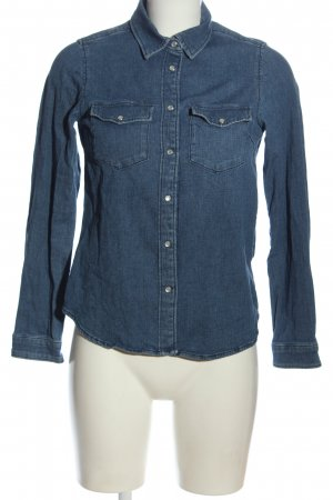 H&M Camicia denim blu stile casual