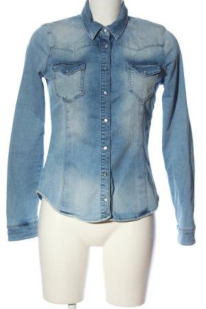 H&M Jeanshemd blau Casual-Look