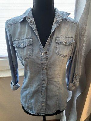 H&M Jeansowa koszula błękitny-chabrowy