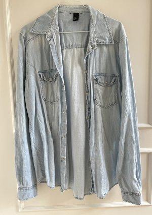 H&M Camicia denim azzurro-azzurro