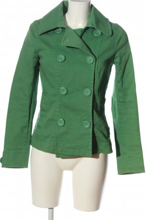 H&M Pea Jacket green casual look