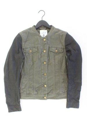 H&M Jeansjacke Größe 40 olivgrün aus Baumwolle