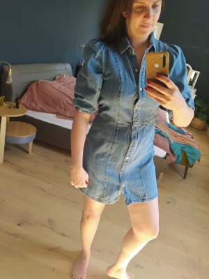 H&M Jeansowa sukienka stalowy niebieski