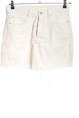 H&M Jeansrock creme Casual-Look