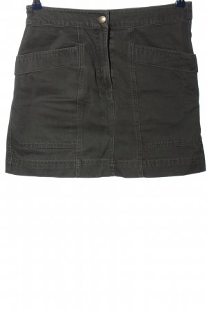 H&M Jeansrock khaki meliert Casual-Look