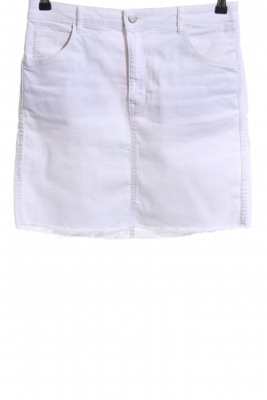 H&M Jupe en jeans blanc style décontracté