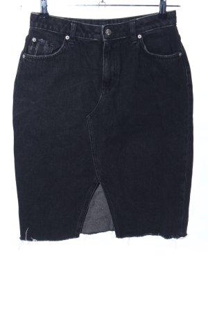 H&M Gonna di jeans nero stile casual