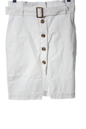 H&M Spijkerrok wit casual uitstraling