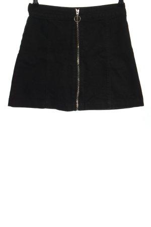H&M Jeansrock schwarz Casual-Look