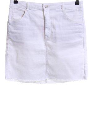 H&M Gonna di jeans bianco stile casual