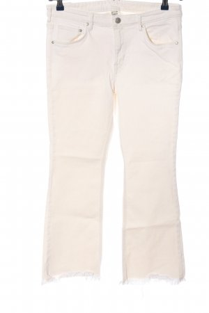 H&M Jeansschlaghose weiß Casual-Look