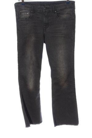 H&M Jeansschlaghose schwarz Casual-Look