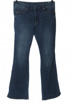 H&M Jeansschlaghose blau Casual-Look