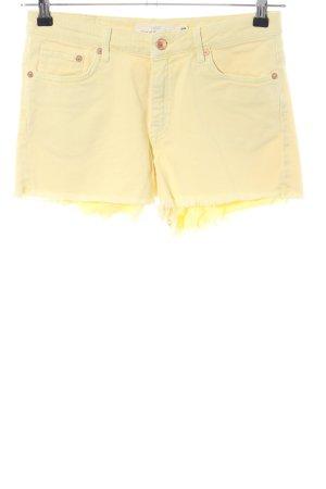 H&M Short en jean jaune primevère style décontracté