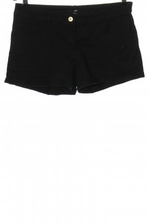 H&M Pantalón corto de tela vaquera negro look casual