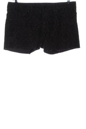 H&M Pantaloncino di jeans nero stampa integrale stile casual