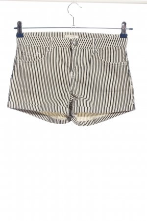 H&M Jeansshorts schwarz-weiß Streifenmuster Casual-Look