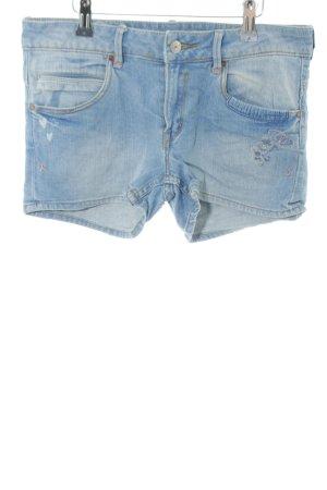 H&M Jeansshorts blau Motivdruck Casual-Look