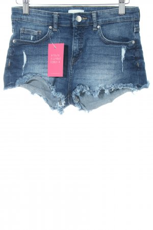 H&M Jeansshorts blau Street-Fashion-Look