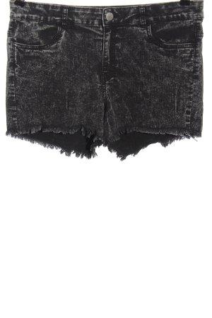 H&M Jeansshorts schwarz meliert Casual-Look