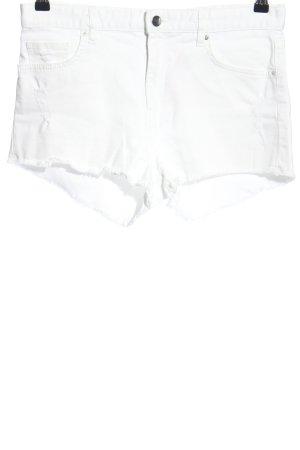 H&M Short en jean blanc style décontracté