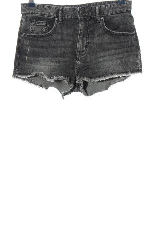 H&M Short en jean noir style décontracté