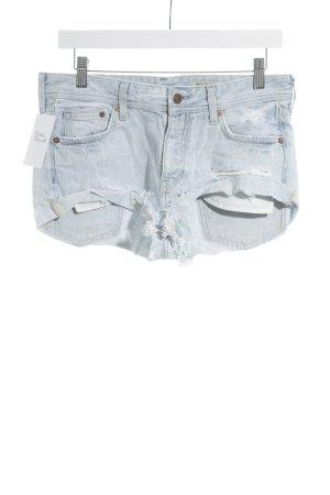 H&M Jeansshorts hellblau Used-Optik
