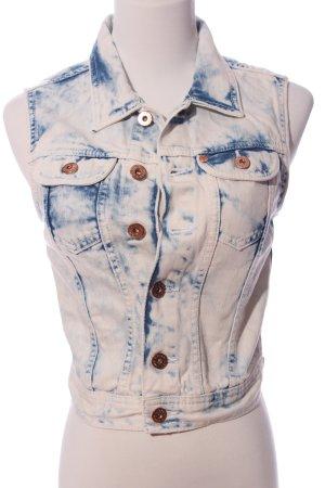 H&M Jeansweste weiß-blau Casual-Look