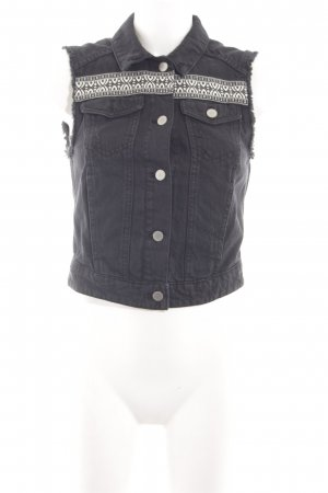 H&M Jeansweste grafisches Muster Casual-Look