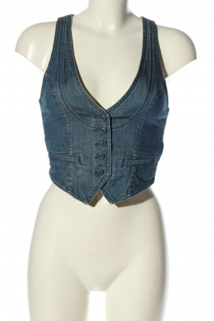 H&M Gilet en jean bleu style décontracté