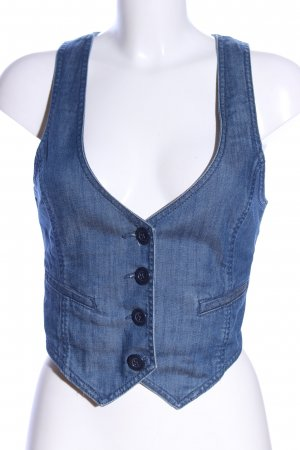 H&M Jeansweste blau meliert Casual-Look