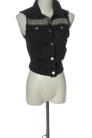 H&M Jeansweste schwarz Casual-Look