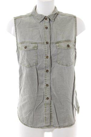 H&M Jeansweste hellgrau Casual-Look