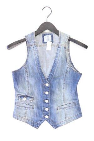 H&M Denim Vest blue-neon blue-dark blue-azure cotton