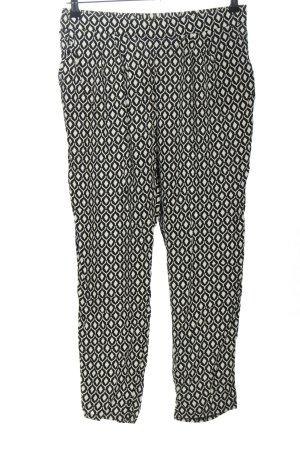 H&M Jegging noir-blanc imprimé allover style décontracté