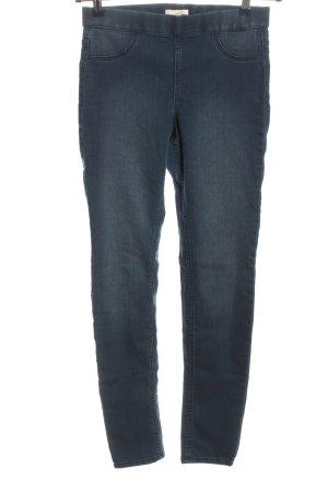 H&M Jeggingsy niebieski W stylu casual
