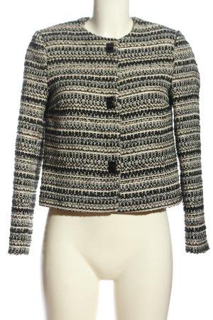 H&M Jerseyblazer schwarz-wollweiß Streifenmuster Casual-Look