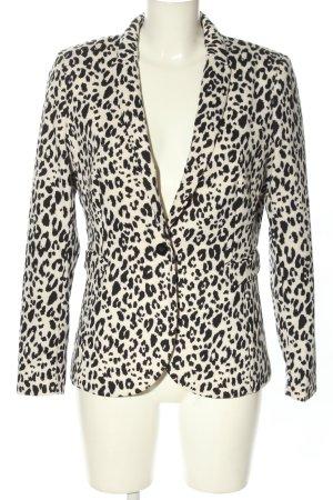 H&M Jersey blazer zwart-wit volledige print zakelijke stijl